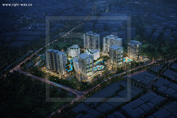 Residential project in Turkey - right-way