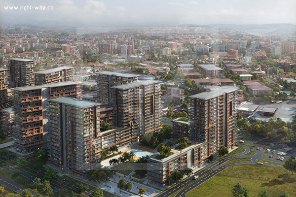 Apartments for sale in a residential project in Istanbul - right-way
